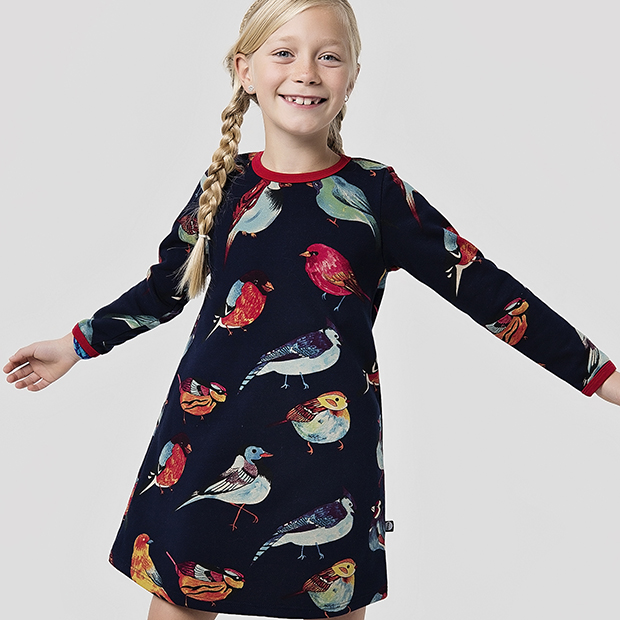 RIGMOR Dress Fugleprint