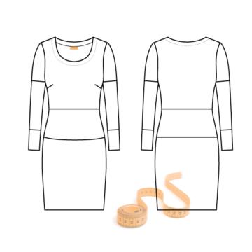 Personligt symønster jersey kjole og bluse