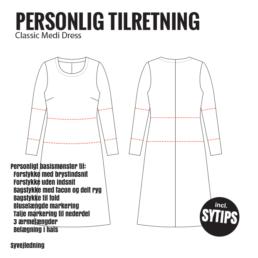 Personligt-Jersey-Kjole-Basismønster